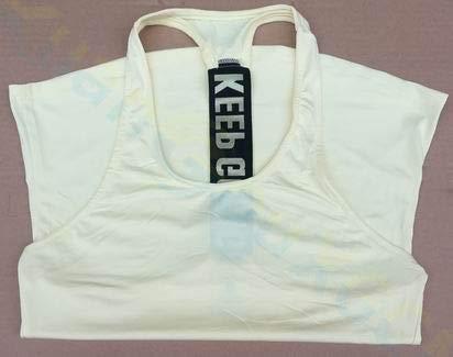SGYHPL Sommer Frauen Gym Sport Weste Ärmelloses Shirt Fitness Laufbekleidung Tanktops Workout Yoga Unterhemden Quick Dry Tuniken L Keep Going Gelb