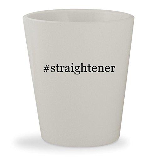 #straightener - White Hashtag Ceramic 1.5oz Shot Glass