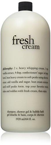 Philosophy Fresh Cream Shampoo, Shower Gel, Bubble Bath 64 Fl Oz Jumbo Size