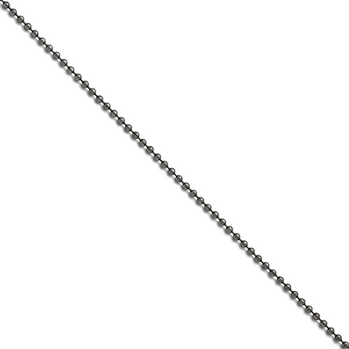 Stainless Steel 2.4mm 22 inch Beaded Ball Antiqued Chain 22'' inches length