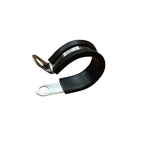 10Pack 1.75 inch Rubber Cushioned Stainless Steel Cable Clamp, Metal Clamp,Marine Grade Electrical Stainless Steel Cushion Clamps by Seven YJ.