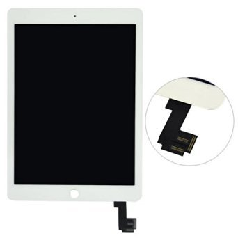 Full Front Glass Digitizer Touch Screen Assembly for iPad Air 2 Ipad 6 (white)