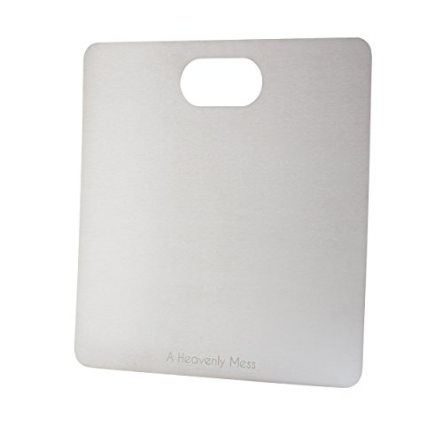 AHM Super Slim Stainless Steel Cutting Board/ Kitchen Butcher Block; Multi Purpose Chopping Board; Odour and Stain Resistant; Will Never Crack, Splinter or Scar Like Wood, Plastic or Bamboo Boards by A Heavenly Mess