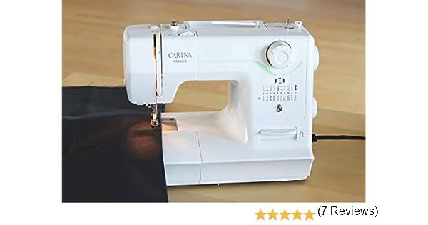 Carina 1006 Classic Máquina de Coser, plástico y Metal, Color Blanco, 38,0 x 16,1 x 27,6 cm: Amazon.es: Hogar