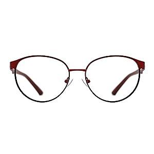 TIJN Women Straight Browline On-trend Metal Frame Eyeglasses