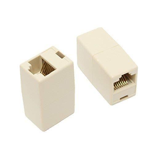 Lukzer  2 pcs Set  RJ45 8P8C Female to Female Network LAN Cable Coupler Adapter Connector