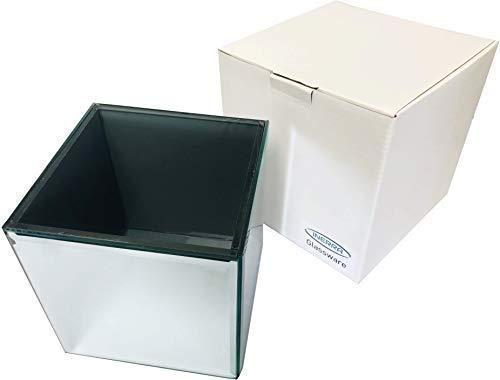 INERRA Vidrio Espejo Cube-Florero para Boda Mesa Centros de Mesa, Velas y de Mesa Arreglos - 14cm x 14cm x 14cm
