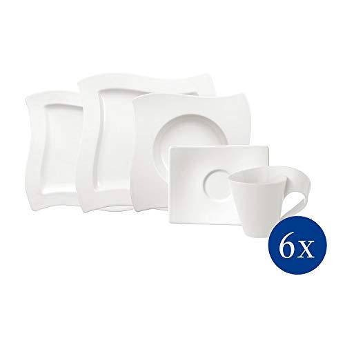 - Villeroy & Boch New Wave 30-Piece Basic Dinnerware Set, White
