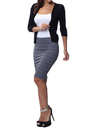 Franato - Falda - ajustado - Rayas - para mujer gris