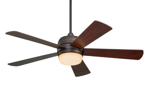 Cheap Emerson Ceiling Fans CF930ORB Atomical 52-Inch Modern Indoor Outdoor Ceiling Fan With Light And Remote, Damp Rated, Oil Rubbed Bronze Finish, Works with Alexa