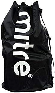 Mitre Big Boys' Nylon Football Soccer Sack Carrier Bag 12 Ball Black [Mi