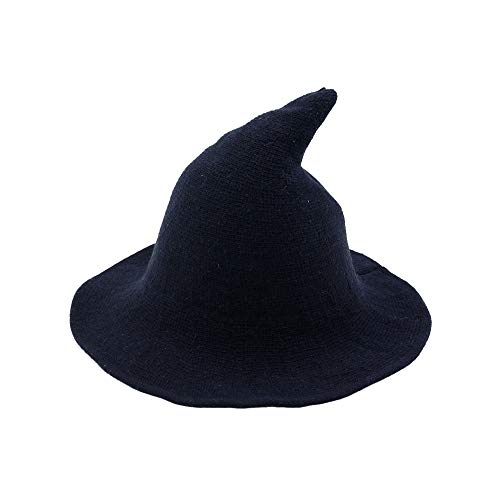 Fekey&JF Women's Witch Kinitted-Wool Hats, for Halloween Party Masquerade Cosplay Costume Accessory and Daily Navy Blue]()