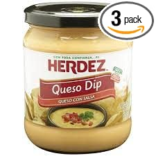 Herdez Queso Dip 15oz Jar (Pack of 3) (Choose Flavor Below) (