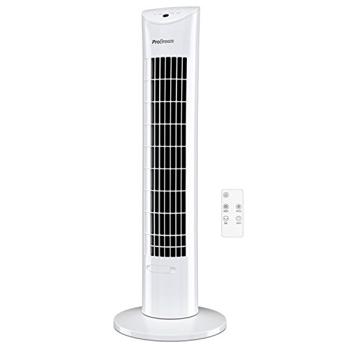 Pro Breeze Oscillating 30-inch Tower Fan with Ultra-Powerful 60W Motor, Remote...