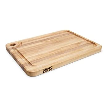 John Boos Prestige Maple Wood Edge Grain Reversible Cutting Board With  Juice Groove, 20 Inches