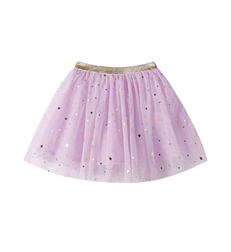 Yeefant Fashion Baby Kids Girls Princess Stars Sequins Party Dance Ballet Tutu Skirts (Recommended Age 2-7 Years)