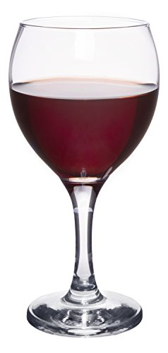 Classic Crystal Clear Stemmed Red Wine Glass, Merlot Cabernet Sauvignon Pinot Noir, Set of 4, 12 oz