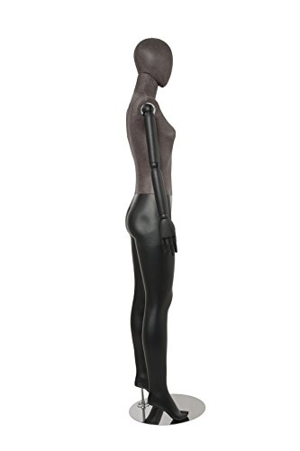Newtech Display MAF-ARM2-1/BLLE Female Mixed Material Mannequin with Black Leatherette Head and Torso by Newtech Display (Image #4)