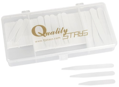 200 Plastic Collar Stays in a Box, 3 Sizes - 2.5