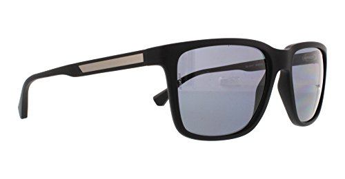 Emporio Armani EA4047 506381 Matte Black EA4047 Square Sunglasses Polarised Len