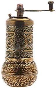 Turkish Handmade Brass Salt Pepper Spice Grinder Mill Set 4 Antique Brass ISO 9001 Certified