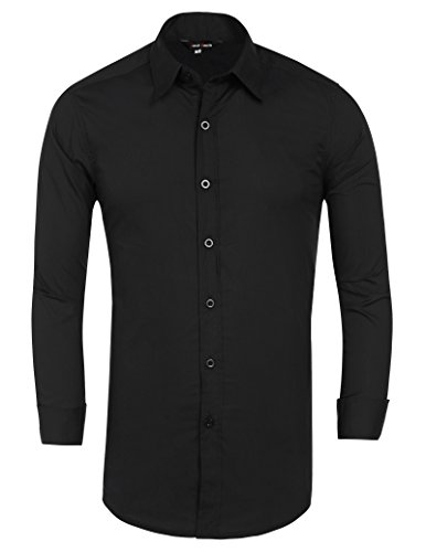 0ec71b0d4ba14 Jack Smith Men s Stylish Dress Shirt Long Sleeve Solid Color