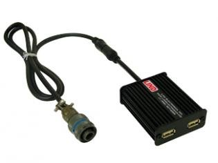Dual USB Output Adapter for use with mobile phones, digital cameras, MP3 players and other USB-powered devices by LIND ELECTRONICS