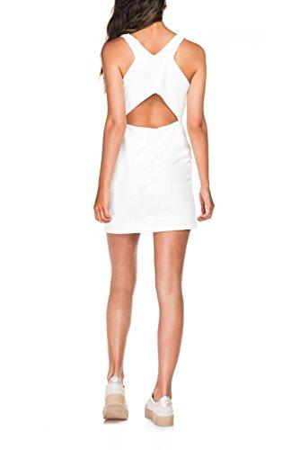 Salsa - Robe courte blanche unie - Femme