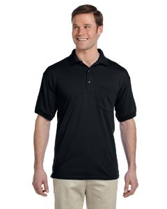 (Gildan Mens 5.6 oz. DryBlend 50/50 Jersey Polo with Pocket G890 -BLACK XL)