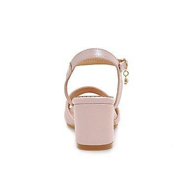LvYuan Mujer Sandalias Confort D'Orsay y Dos Piezas Semicuero Verano Otoño Diario Vestido Confort D'Orsay y Dos Piezas Pedrería Hebilla Poroso blushing pink