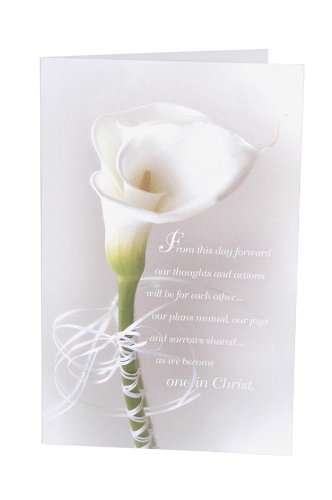 Darice VL6197 Single Calla Lily Flower Wedding Program/Invitation Paper, 8-1/2-Inch, 100 Per Pack]()