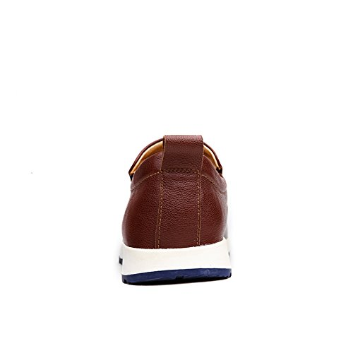 Abby 65306 Mens Slip-on Loafers Stylish Casual Adorable Moccasins Driving Brown 6x2bcVx8tJ