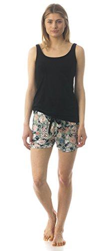 Majamas Sunrise PJ - Women's Sleep Shorts/Tank Nursing/Maternity Pajama Set - Made in The USA