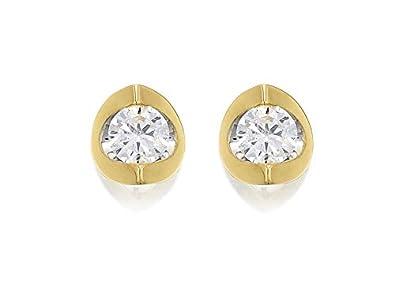 cd2c0a0aee9c3 Love It! Womens Jewellery 9ct Yellow Gold Diamond Solitaire Stud ...