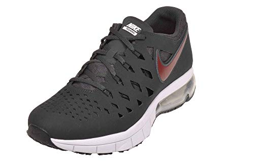 Nike Mens Air Trainer 180 Synthetic Cross-Trainers Shoes (7.5, Anthracite/Gym Red-Black-White) (Non Slip Nike Shoes)