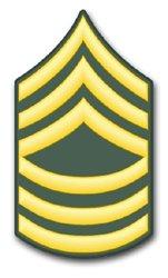 Military Vet Shop U.S. Army E-8 Master Sergeant Window Window Bumper Sticker Decal 3.8