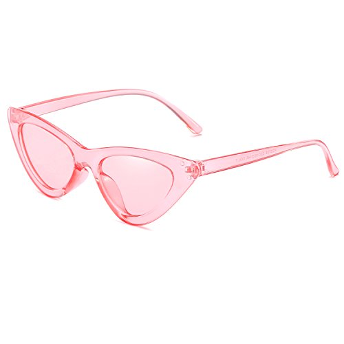 Sun New Pink Reb Blue Green Eye Triangle Transparent Frame Women Small Lens Sunglasses Cat Size Glasses Eyewear Fashion UV400 C6tqtx