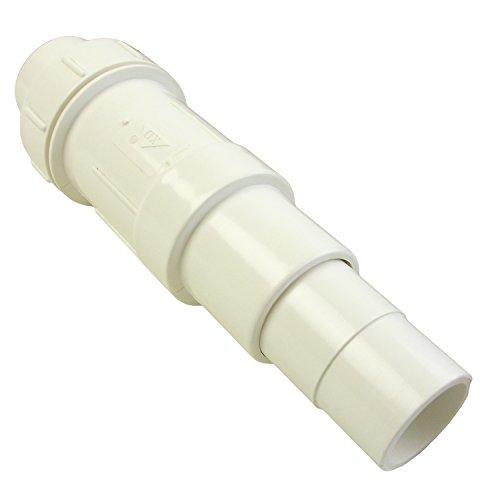 "Lasco 20-2106 Telescopic Kwik-Repair Coupling, 1-1/4"", White"