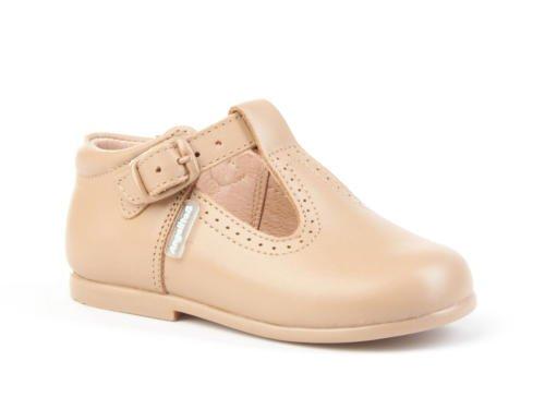 AngelitoS Pepitos de Niño de Piel Color Camel. Marca Modelo 503. Calzado Infantil Hecho EN España. Número 21