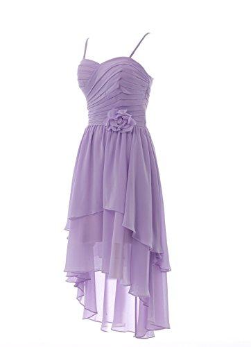 YiYaDawn - Vestido - trapecio - para mujer Coral
