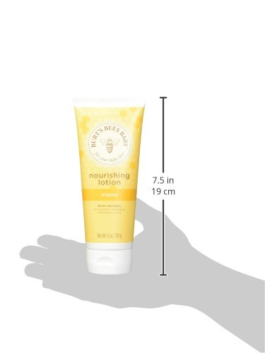 Burt's Bees Baby Nourishing Lotion, Original, 6 Ounces (Pack of 3) (Packaging May Vary)