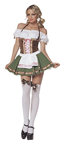 Leg Avenue Maid Costumes - Leg Avenue Womens Gretchen Beer Garden Maid Outfit Fancy Dress Sexy Costume, L (10-14)