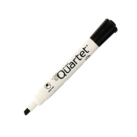 Quartet Low Odor Chisel Tip Dry Erase Marker,12 Pack, Black, DryGuard