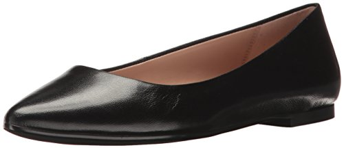 BCBGeneration Women's Millie Ballet Flat, Black Leather, 7.5