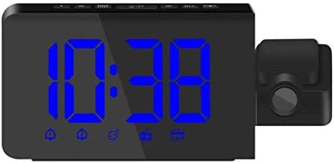 Almencla Reloj Despertador Hora Proyector Radio Proyección de ...