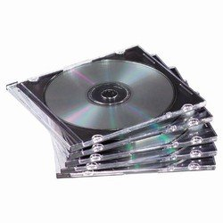 50 Slim Black CD Jewel Cases