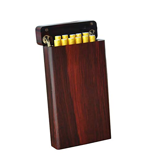 Cigarette Case Hand Made Rose Wood Natural logs Birthday Present Men and Women Cigarette Case Accommodates 11 Cigarettes (with Gift Box) by CSCR (Image #7)