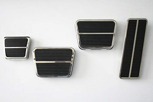 71-72 Chevy C10 Truck Deluxe Gas, Clutch, Brake & Emergency Pedal Pads w/Trim