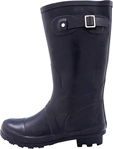 Rainboots Calf Mid Women's NORTY Wellie and Prints Matte 14 amp; Matte Navy Waterproof Glossy Solids Hurricane 7qqwdBPxO