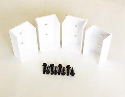 """Rail Mount 2"""" x 3.5"""" White 4 Piece Kit"""